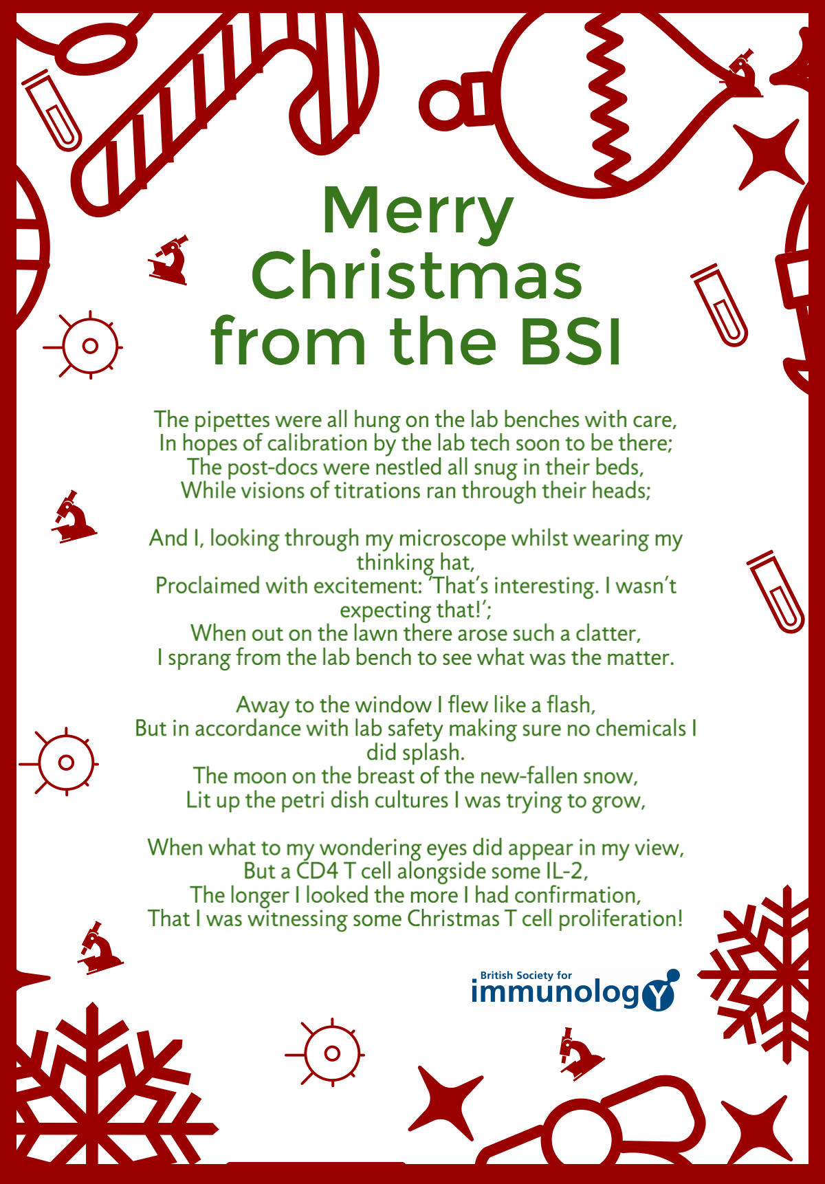 Merry Christmas from the BSI | British Society for Immunology