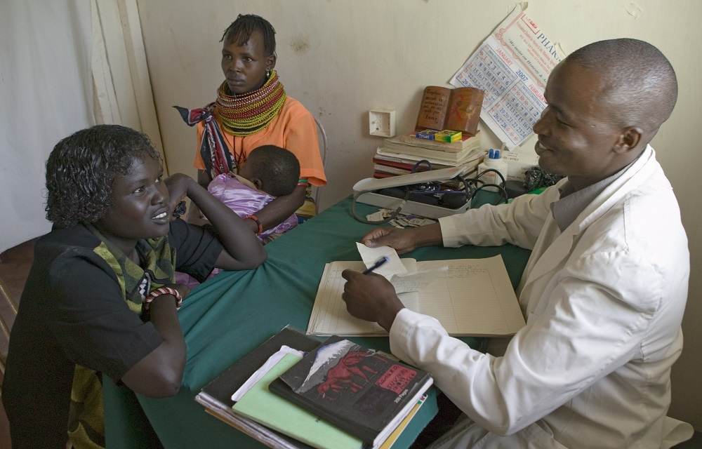 Doctor and patient at an HIV clinic