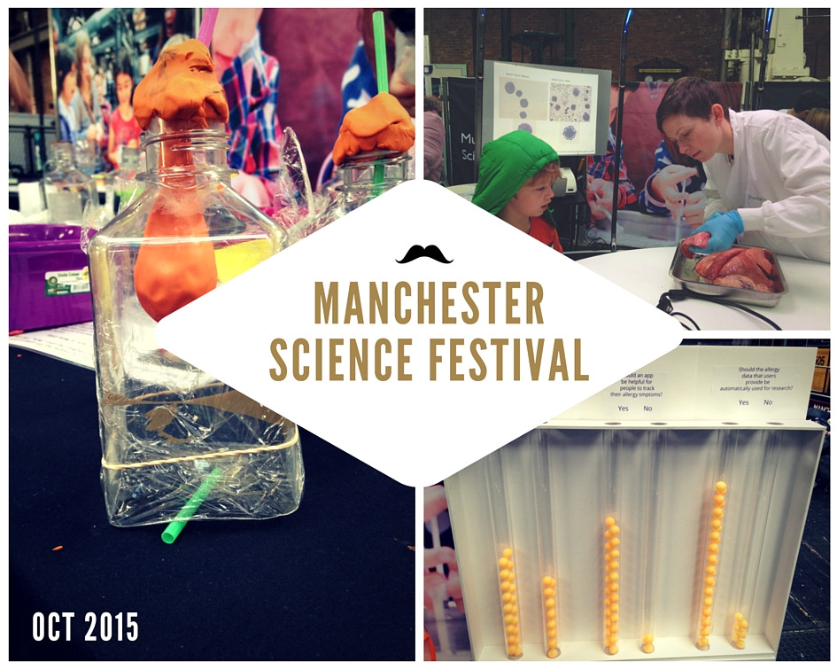 Exhibits and participants at Manchester Science Festival