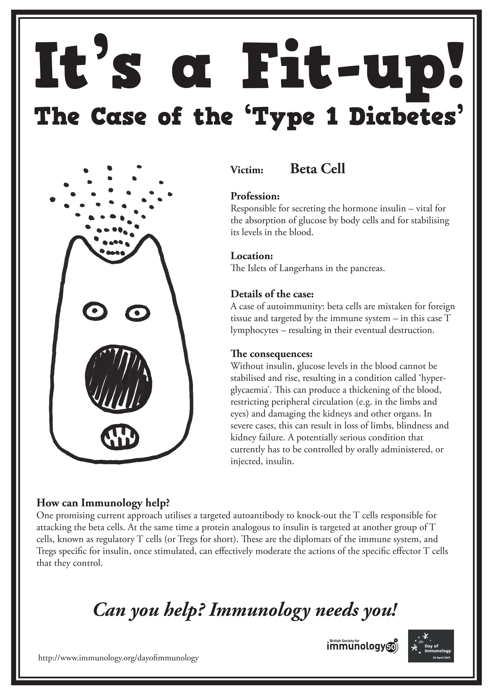 Diabetes Wanted poster