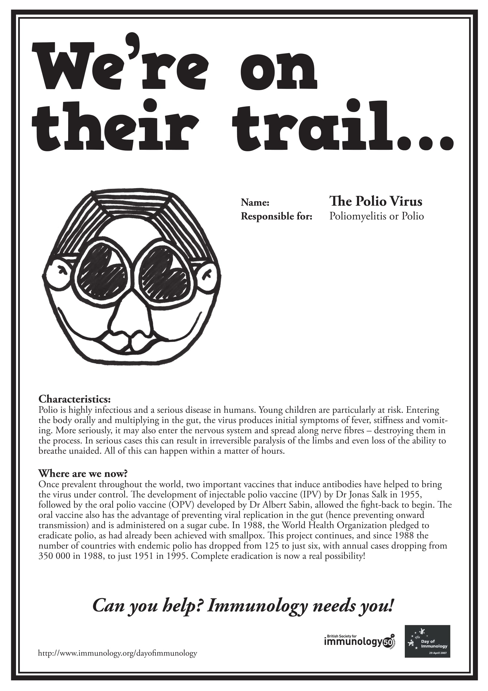 Polio Wanted poster