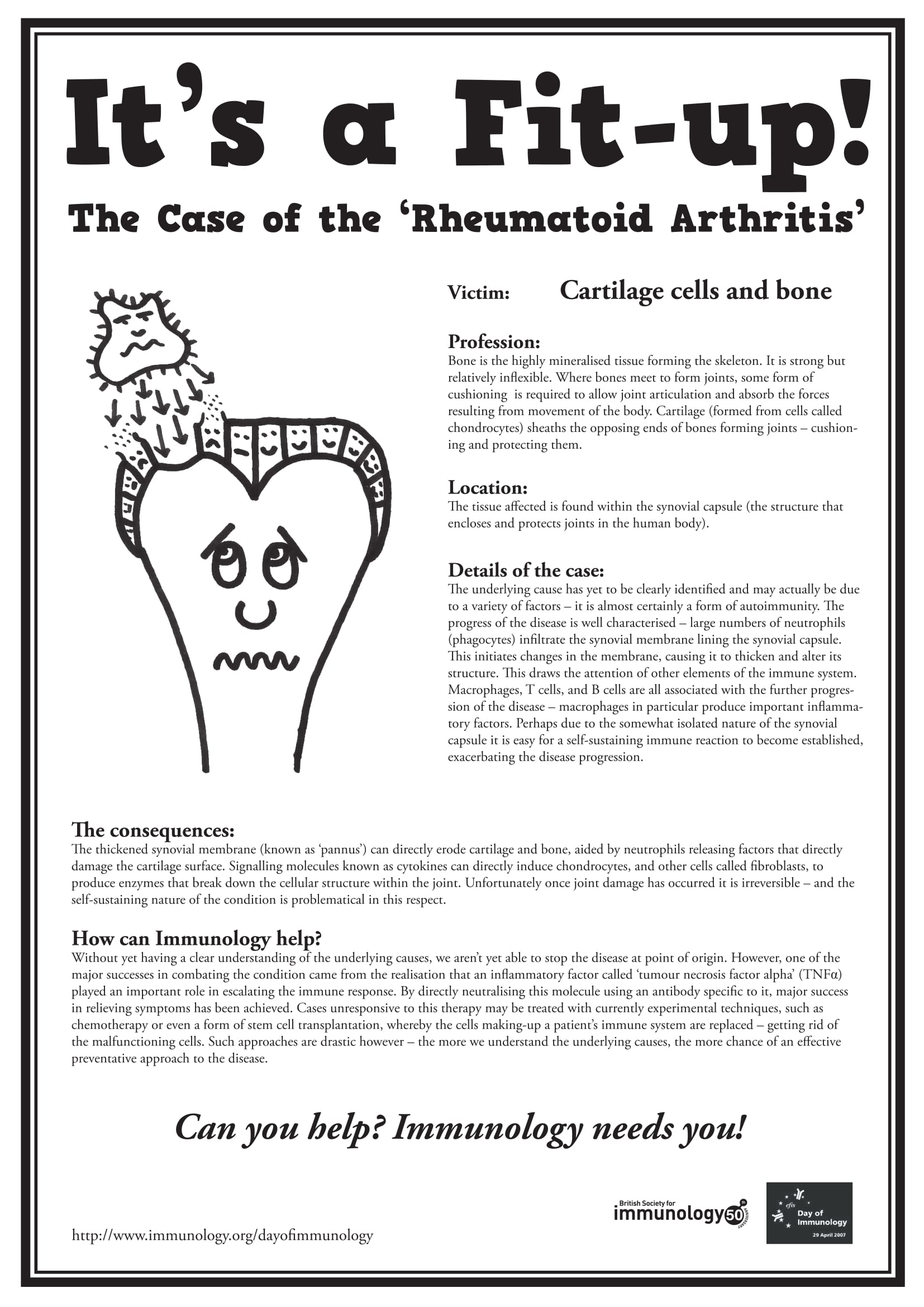 Arthritis Wanted Poster